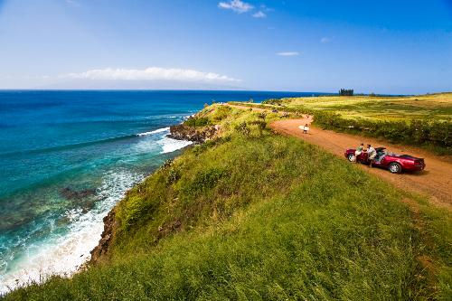 A scenic drive along the ocean at Kapalua.