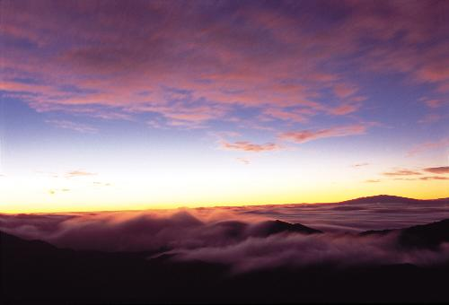 Sunrise over Haleakala viewed from the outlook near the summit.
