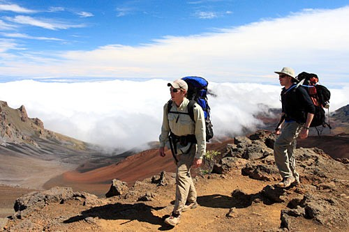 Scale a 10,000-foot dormant volcano and peek into the crater at Haleakala National Park.
