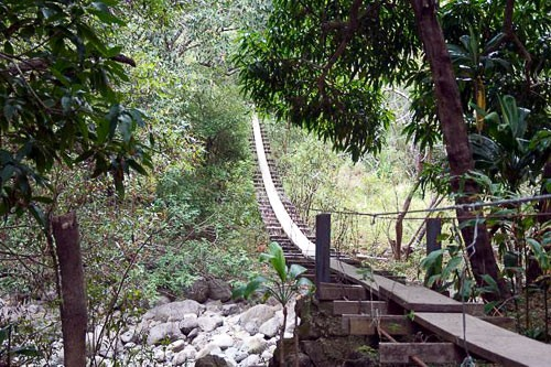 Waihee Valley Swinging Bridge Trail in Maui.