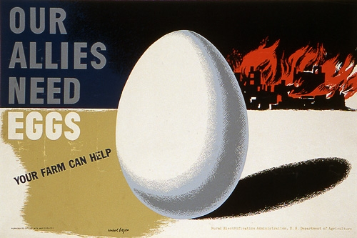 "Poster entitled ""Our Allies Need Eggs"" created in 1942"