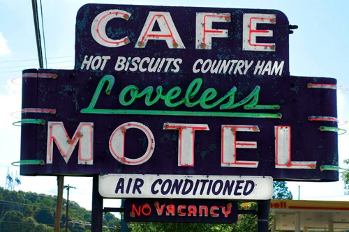 Loveless Cafe and Motel in Nashville, Tennessee. Photo: Southern Living Off the Eaten Path