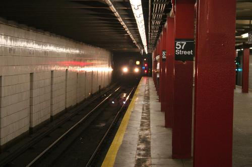 New York Subway at the 57th street station