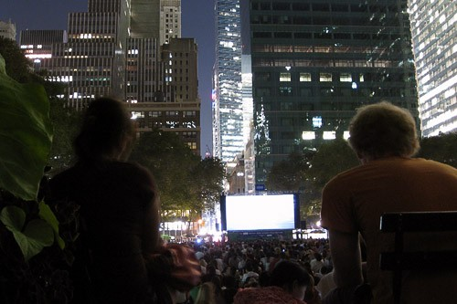 Bryant Park during its annual summer outdoor music festival.