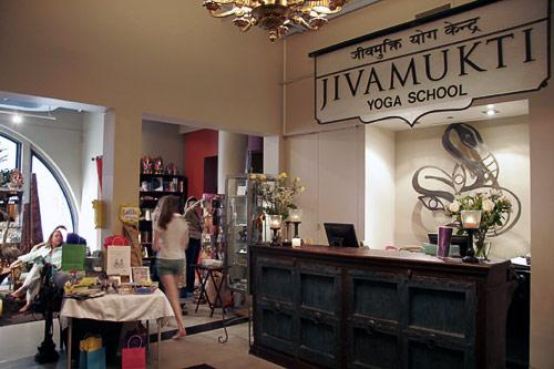 Jivamukti's space is a combination vegan cafe, boutique, and yoga school. Courtesy Jivamukti Yoga Center