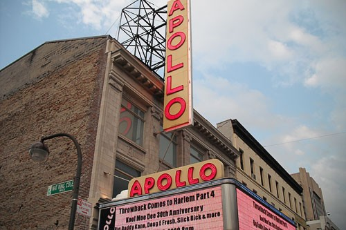Apollo Theater on 125th St. in New York City's Harlem neighborhood.