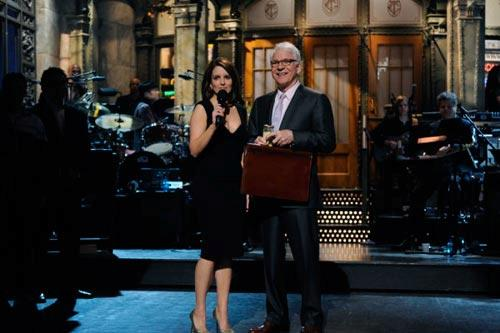 SATURDAY NIGHT LIVE. Pictured: Tina Fey and Steve Martin. Photo by: Dana Edelson/NBC