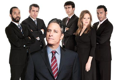 "The cast of Comedy Central's ""The Daily Show,"" hosted by Jon Stewart."