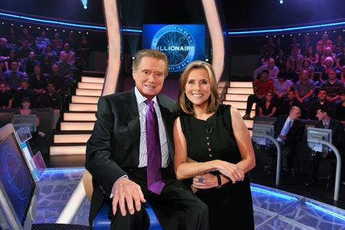 "Regis Philbin, host of the primetime version of ""Who Wants to be a Millionaire"" with Meredith Vieira, host of the weekday version of ""Millionaire."" Photo by: Steve Fenn/ABC"