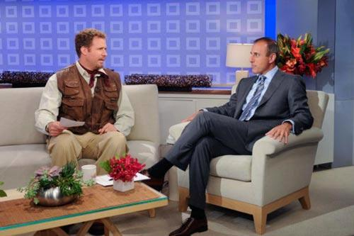 "Will Ferrell and Matt Lauer on the ""TODAY"" show. Photo by: Ali Goldstein/NBC"
