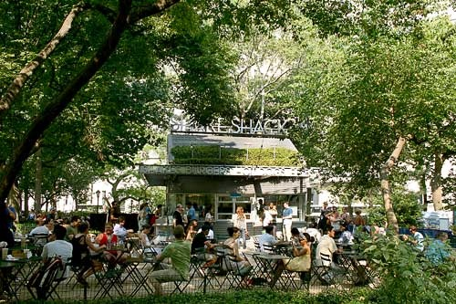 Shake Shack in Madison Square Park.