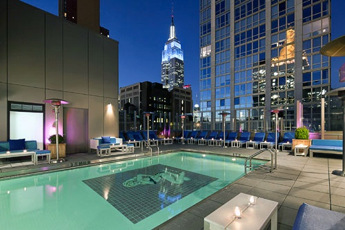 The Rooftop Pool Deck At Gansevoort Park Avenue Hotel In New York City Courtesy