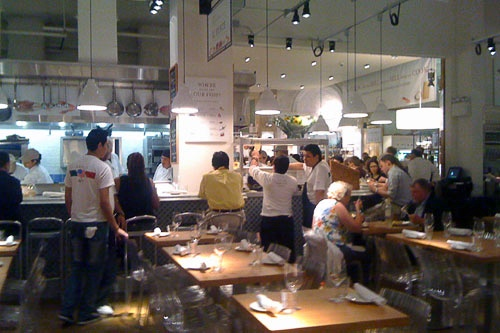 Eataly, a new Italian gourmet market and food hall in New York City.
