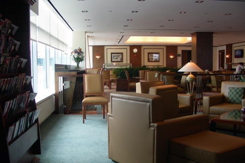 Emirates Lounge at JFK International Airport. Photo by Amy Chen