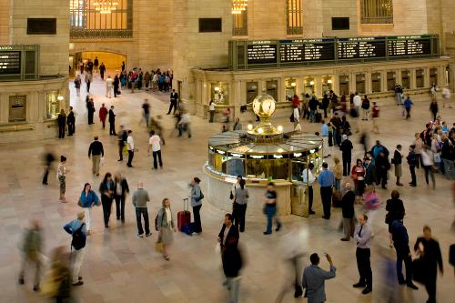 The Vanderbilt Lobby of Grand Central Station in New York City.