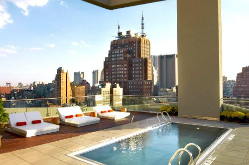 Rooftop pool at The James Hotel New York.