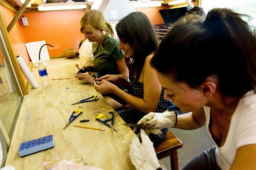 Jewelry-making classes are fun, informative and you have your own piece of jewelry to always remember your Sundance experience. Photo: Adam Brown/Sundance Resorts