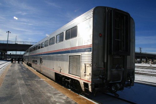 "Eastbound California Zephyr at Salt Lake City. Photo by <a href=""http://www.flickr.com/photos/markbb/2232337742/"" target=""_blank"">mark benger/Flickr.com</a>."