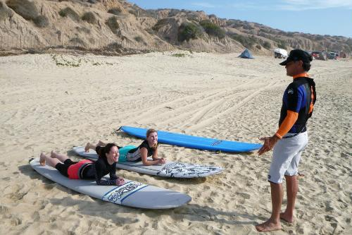 Surf lessons at Paskowitz Family Surf Camp.