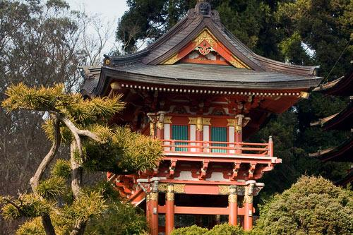 Japanese Tea Garden in Golden Gate Park, in San Francisco, CA.