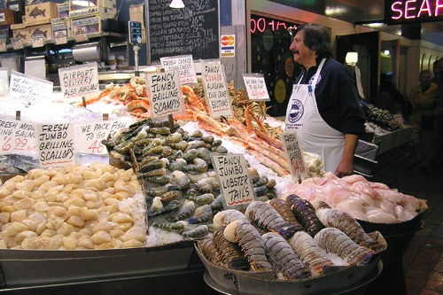 America 39 s best public markets for Fish market seattle