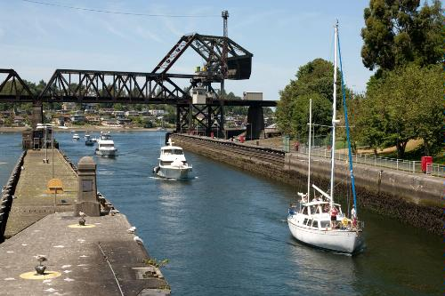 The Hiram M. Chittenden Locks in Seattle