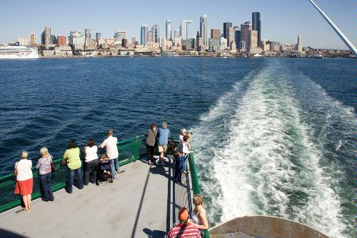 The ferry from Bainbridge Island to Seattle