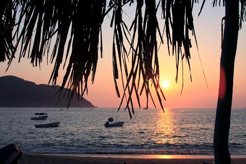 The beach at Puerto Marques in Acapulco.