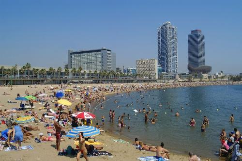 The beach at Barceloneta
