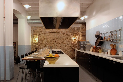 The cooking facility at Cook & Taste, in Barcelona, which offers traditional local cooking classes. Photo: Courtesy Cook & Taste