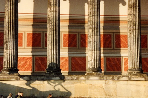 The exterior of the Altes Museum in Berlin, Germany.
