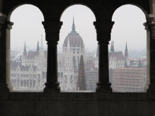 Parliament, as seen from the Fisherman's Bastion, Budapest-Hungary