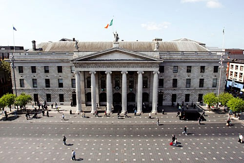 Dublin's General Post Office is still riddled with bullet holes from the Easter Uprising of 1916.