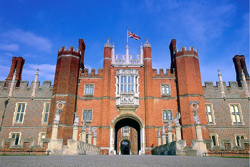 The West Front entrance at Hampton Court Palace