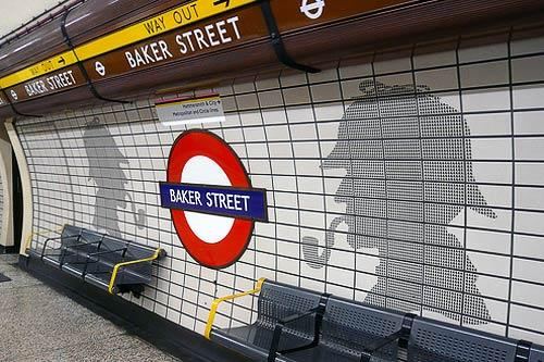 The Sherlock Holmes-themed Baker Street Tube station in London.