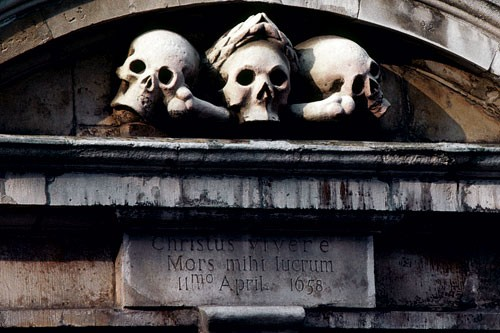 St Olave's cemetery in London.