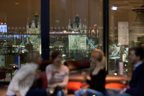 Skylounge at Mint Hotel Tower of London.