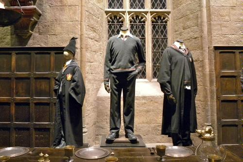 "Ron and Harry's early costumes at ""The Making of Harry Potter"" at the Warner Brothers Studio Tour at Leavesden Studios in England."