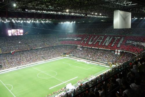 AC Milan vs. Inter at San Siro (Giuseppe Meazza Soccer Stadium), Milan.