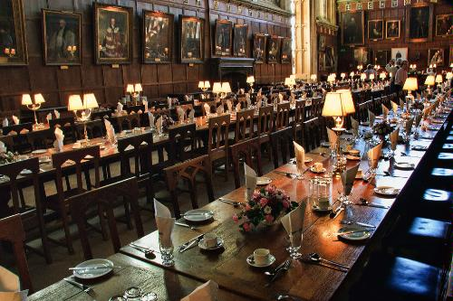 The dining room at Christ Church College in Oxford, England