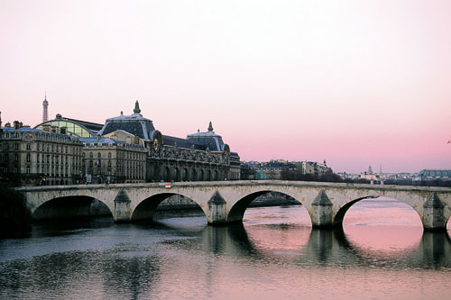 Orsay Museum and the Seine river, Paris