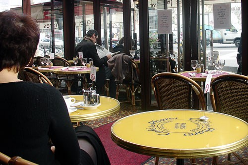 Cafe des Phares in Paris, France.