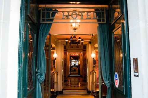 Entance to L'Hotel, the Paris hotel where playwright Oscar Wilde died