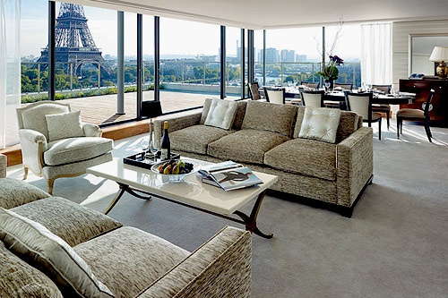 View of the Eiffel Tower from Shangri-La Hotel in Paris, France. Photo courtesy Shangri-La Hotel.
