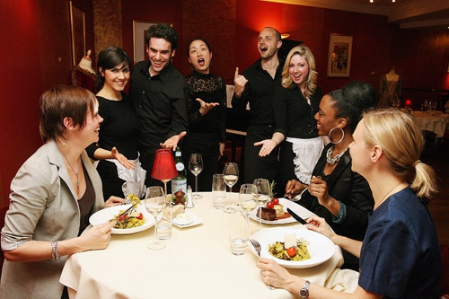 At Bel Canto in Paris, your meal will be served to you by professional singers. Photo courtesy Bel Canto
