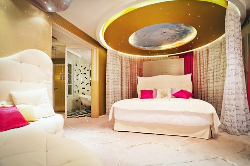 The Marie Antoinette suite at the Seven Hotel, Paris. Photo: Courtesy Serge Ramelli/Seven Hotel