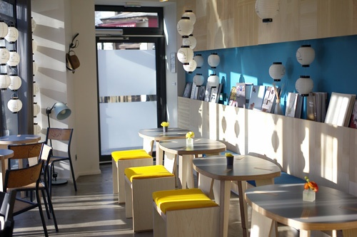 Petit Usagi, a Japanese cafe, is nestled on the ground floor of the Le Citizen Hotel du Canal. Courtesy Guillaume Terver/Le Citizen Hotel du Canal