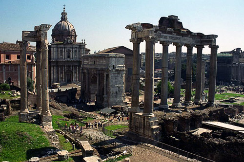 The ruins of the Roman forum were excavated in the 19th century.