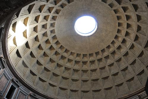 interior of the dome of the Pantheon, Rome