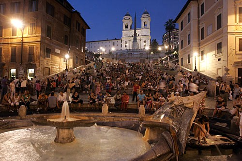They're mobbed at almost any hour, but the Spanish Steps are still a must for visitors.